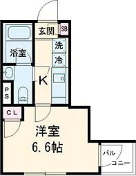 東急田園都市線 池尻大橋駅 徒歩7分の賃貸マンション 3階1Kの間取り