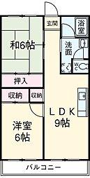 青木ハイツ 5階2LDKの間取り