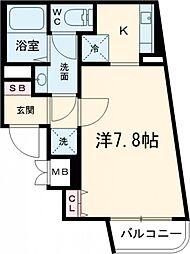都営浅草線 西馬込駅 徒歩4分の賃貸マンション 地下1階1Kの間取り