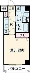 JR山手線 田町駅 徒歩15分の賃貸マンション 4階1Kの間取り