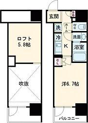 JR山手線 大崎駅 徒歩7分の賃貸マンション 3階1Kの間取り