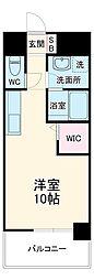 名古屋市営東山線 亀島駅 徒歩3分の賃貸マンション 6階ワンルームの間取り