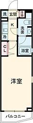 DeLCCS Akatsuka 1階1Kの間取り