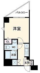 JR東海道本線 横浜駅 徒歩8分の賃貸マンション 5階1Kの間取り