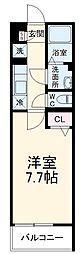 京成本線 京成大久保駅 徒歩4分の賃貸アパート 1階1Kの間取り