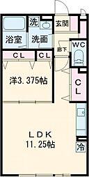 東京メトロ東西線 葛西駅 徒歩16分の賃貸アパート 1階1LDKの間取り