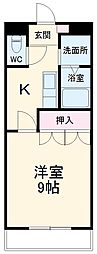 名鉄瀬戸線 尾張旭駅 徒歩10分の賃貸アパート 2階1Kの間取り