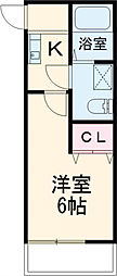 JR総武線 西荻窪駅 徒歩8分の賃貸アパート 2階1Kの間取り