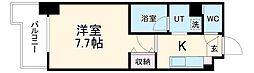 名古屋市営東山線 藤が丘駅 徒歩3分の賃貸マンション 4階1Kの間取り