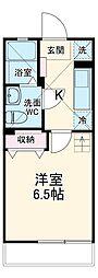 JR京葉線 新浦安駅 徒歩20分の賃貸アパート 2階1Kの間取り