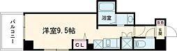 東京メトロ日比谷線 三ノ輪駅 徒歩5分の賃貸マンション 3階ワンルームの間取り