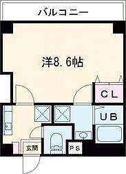 東京メトロ半蔵門線 押上駅 徒歩10分の賃貸マンション 4階1Kの間取り