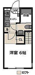相鉄本線 上星川駅 徒歩10分の賃貸アパート 1階1Kの間取り
