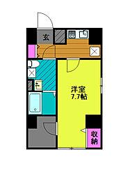 東京メトロ千代田線 綾瀬駅 徒歩8分の賃貸マンション 6階1Kの間取り
