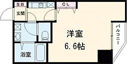 東京メトロ日比谷線 入谷駅 徒歩10分の賃貸マンション 4階1Kの間取り