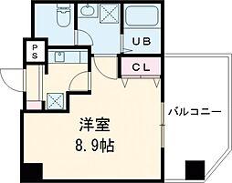 東京メトロ日比谷線 入谷駅 徒歩10分の賃貸マンション 7階1Kの間取り
