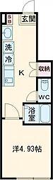 エクセルコート桜台 1階1Kの間取り