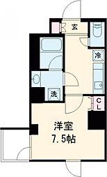 東京メトロ千代田線 北綾瀬駅 徒歩2分の賃貸マンション 2階1Kの間取り