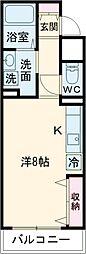 ameijia玉川学園 3階ワンルームの間取り