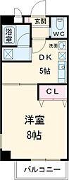 JR中央線 立川駅 徒歩7分の賃貸マンション 4階1DKの間取り