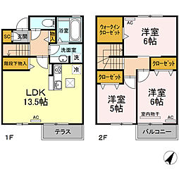 i‐village II 1階3LDKの間取り