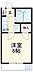 間取り,1K,面積18m2,賃料4.4万円,京王線 柴崎駅 徒歩7分,京王線 国領駅 徒歩15分,東京都調布市柴崎1丁目