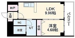 あさひグランレジデンシア高崎I 6階1LDKの間取り