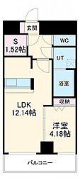 あさひグランレジデンシア高崎 II 4階1SLDKの間取り
