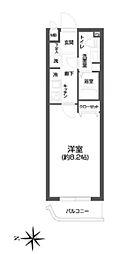 都営浅草線 西馬込駅 徒歩4分の賃貸マンション 1階1Kの間取り