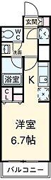 東急田園都市線 駒沢大学駅 徒歩2分の賃貸マンション 17階ワンルームの間取り