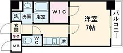 エステムプラザ蒲田TAKARABUNE 1階1Kの間取り