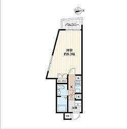 東武東上線 下赤塚駅 徒歩10分の賃貸マンション 4階1Kの間取り