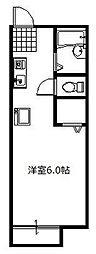 JR高崎線 北本駅 徒歩3分の賃貸アパート 1階1Kの間取り