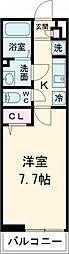 小田急小田原線 喜多見駅 徒歩9分の賃貸マンション 2階1Kの間取り