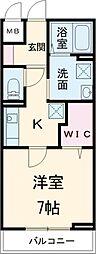 JR高崎線 上尾駅 徒歩10分の賃貸アパート 2階1Kの間取り