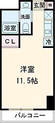 JR山手線 池袋駅 徒歩2分の賃貸マンション 13階ワンルームの間取り