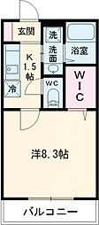 京王線 聖蹟桜ヶ丘駅 徒歩6分の賃貸アパート 1階1Kの間取り