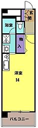 JR東海道本線 岐阜駅 バス15分 六条大溝町下車 徒歩1分の賃貸マンション 3階ワンルームの間取り