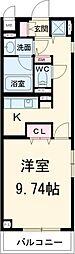近鉄名古屋線 近鉄四日市駅 徒歩8分の賃貸マンション 4階1Kの間取り