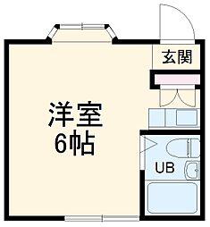 京急本線 弘明寺駅 徒歩13分の賃貸アパート 1階ワンルームの間取り