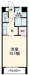 愛知環状鉄道 新豊田駅 3.6kmの賃貸アパート 2階1Kの間取り