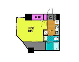 東京メトロ千代田線 綾瀬駅 徒歩8分の賃貸マンション 3階1Kの間取り