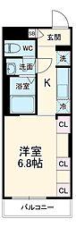 JR成田線 成田駅 徒歩14分の賃貸アパート 1階1Kの間取り
