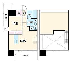 JR鹿児島本線 吉塚駅 徒歩6分の賃貸マンション 11階1LDKの間取り
