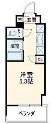 キャンパスヴィレッジ京都西京極 6階ワンルームの間取り