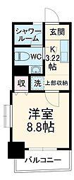 沖縄都市モノレール 美栄橋駅 徒歩15分の賃貸マンション 4階1Kの間取り