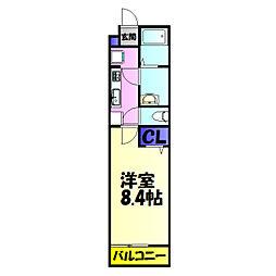 京成千葉線 京成稲毛駅 徒歩16分の賃貸アパート 1階1Kの間取り