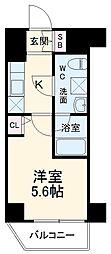 リライア横濱大通り公園 3階1Kの間取り