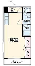 JR成田線 成田駅 徒歩14分の賃貸アパート 2階ワンルームの間取り