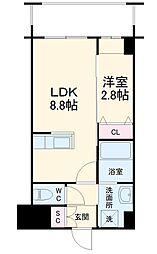 西鉄天神大牟田線 西鉄平尾駅 徒歩5分の賃貸マンション 4階1LDKの間取り